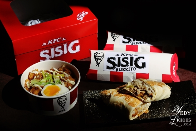 KFC Sisig Rice Bowl and KFC Sisig Burrito of KFC Philippines Blog Review Price New Product Menu Facebook Instagram Twitter YedyLicious Manila Top Best Food Blog Yedy Calaguas Kentucky Fried Chicken Blog Review