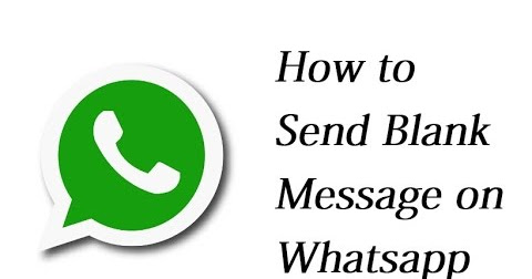 How to send blank messages on Whatsapp?