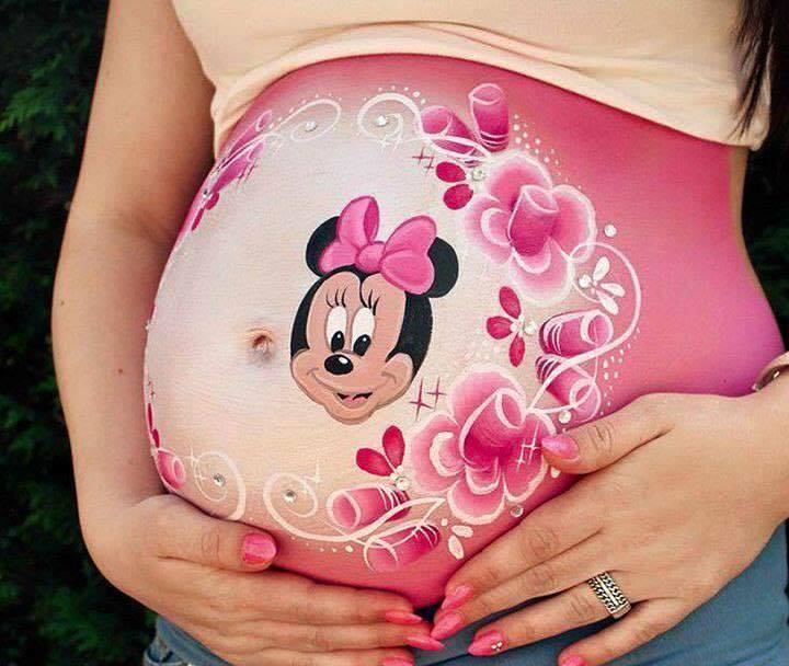 Extrêmement La peinture sur le ventre: une idée magnifique pour préparer l  IN21