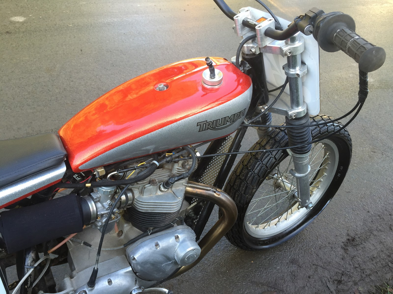 Triumph T120 Flattrack Racing Bike For Sale.