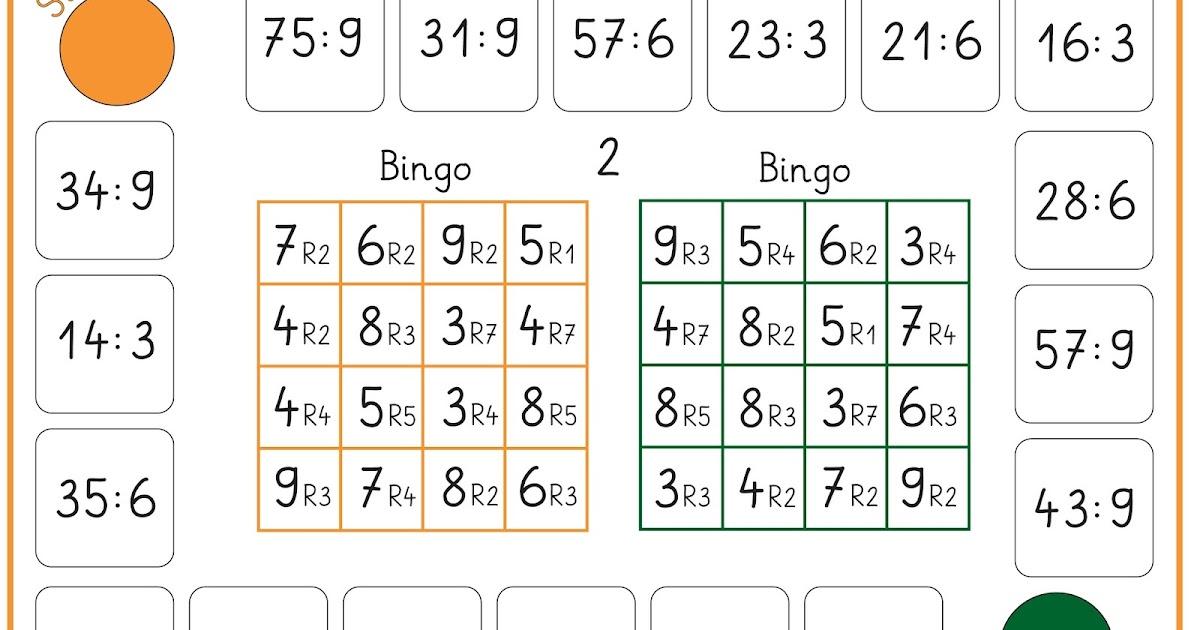 Lernstübchen: Bingo - teilen mit Rest