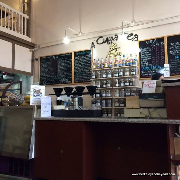 order counter at A 'Cuppa Tea in Berkeley, California