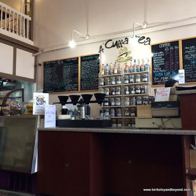 order counter at A 'Cuppa Tea in Berkeley, California