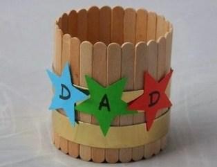 Kreasi Kotak Pensil Bulat Dari Stik Es Krim