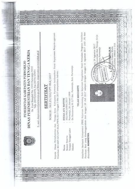 contoh sertifikat kompetensi BLK