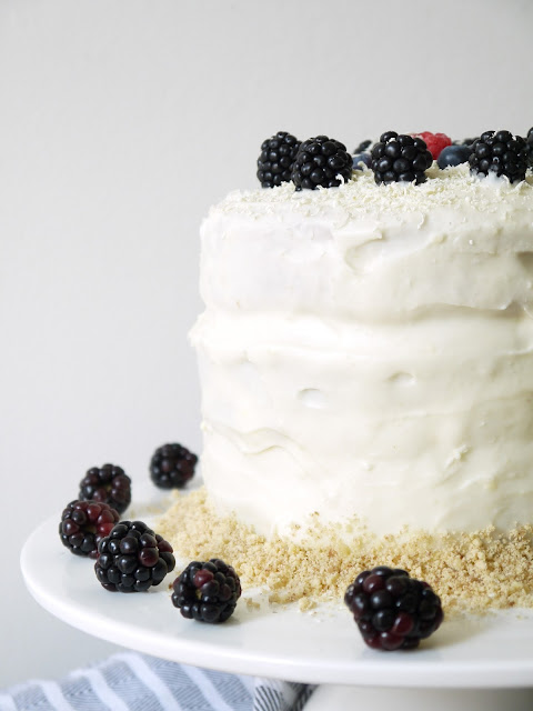 White Chocolate & Blackberry Crumble Cake The Betty Stamp
