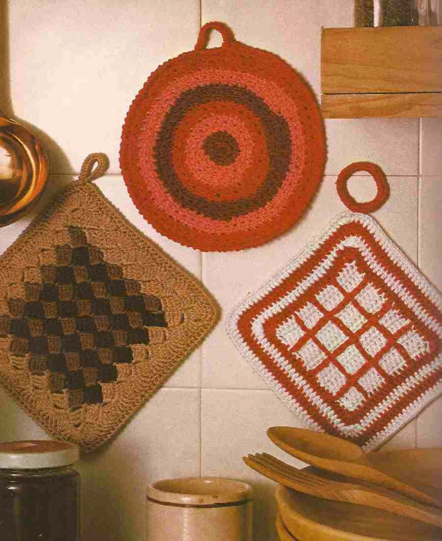 Cogedores o Agarra Ollas a Crochet