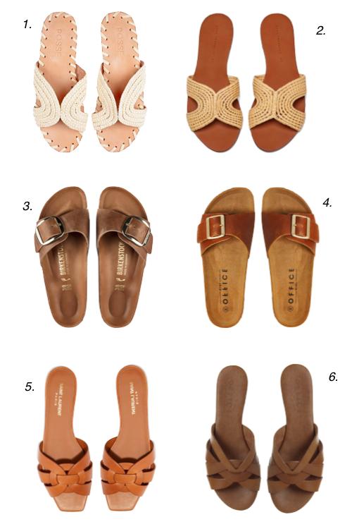 8c97fb7aaaaccf 1. Posse Sandals 2. Zara Sandals 3. Birkenstock Big Buckle Sandals 4.  Office Big Buckle Sandals 5. Saint Laurent Nu Pieds Sandals 6. Office  Saffron Sandals