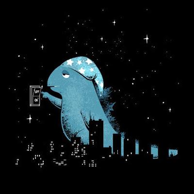 de noche y la ciudad en peligro