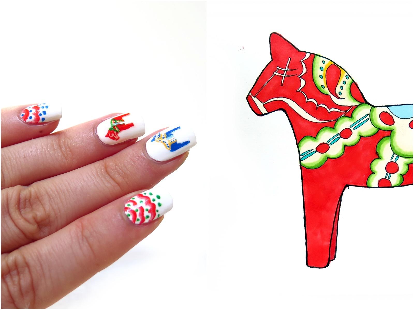Inspiracje ze Szwecji w zdobieniu paznokci – 4 szwedzkie wzory z moich podróży