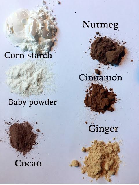 list of ingredients for handmade mineral veil makeup