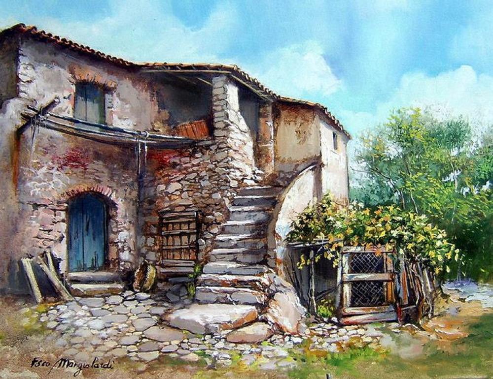 Im genes arte pinturas galer a cuadros de paisajes - Paisajes de casas ...