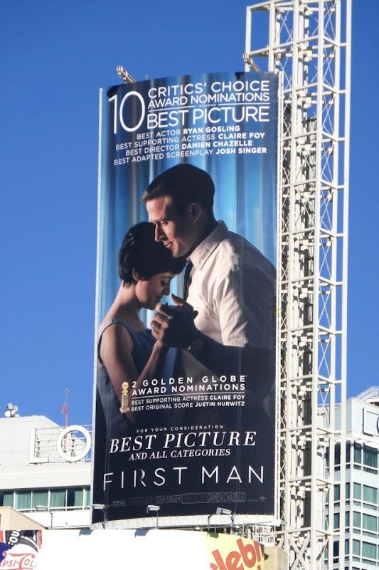 First Man Critics Choice Awards billboard