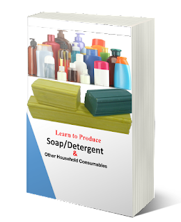 A detailed ebook and video guides that teaches soap making, detergent powder making, disinfectant, body spray, perfume, bleach, cleansers