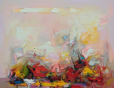 obrazy abstrakcje, jeden z obrazów