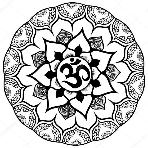 Om Mandala Symbol Foto Artis  Candydoll