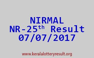 NIRMAL Lottery NR 25 Results 7-7-2017