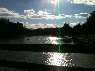 spiritual awakening, timelessness, pond, sunny day, clouds