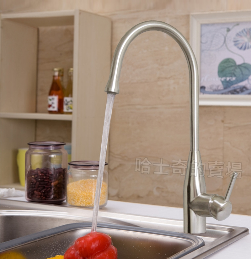 High Flow Kitchen Faucet Aerator Cupboards Ideas Sgs Nsf 認證 Kfk3018 無鉛不鏽鋼廚房水龍頭廚房鵝頸酒瓶型鵝頸流理台 無鉛不鏽鋼廚房水龍頭廚房鵝頸酒瓶型鵝頸流理台龍頭廚房用龍頭冷熱兩用
