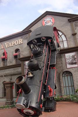 Fachada do museu Mundo a Vapor em Canela - RS