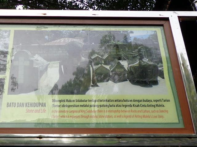 Makam Raja Sidabutar papan nama
