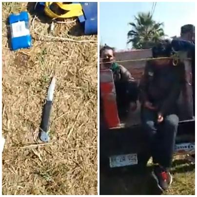 VIDEO; EN MICHOACÁN LES PONE TUNDA A RATEROS Y POLICIAS INTENTAN LLEVARSE DETENIDA A LA VICTIMA