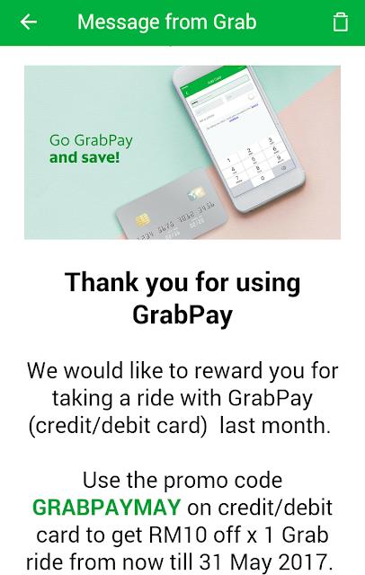 GrabPay Promo Code Discount Grab Malaysia