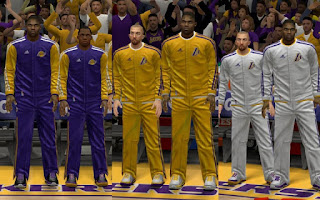 NBA 2K13 Los Angeles Lakers Warmup Uniforms