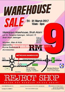 Reject Shop Warehouse Sale 2017