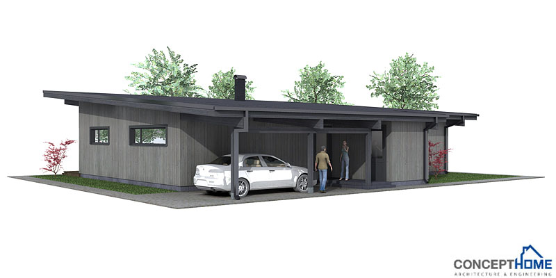 Modern Tiny House Designs: Contemporary House Plans: Small Modern House Plan CH61