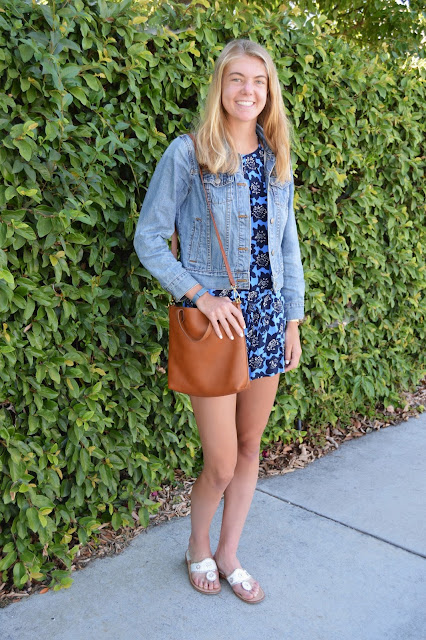 Outfit: Patterned Romper