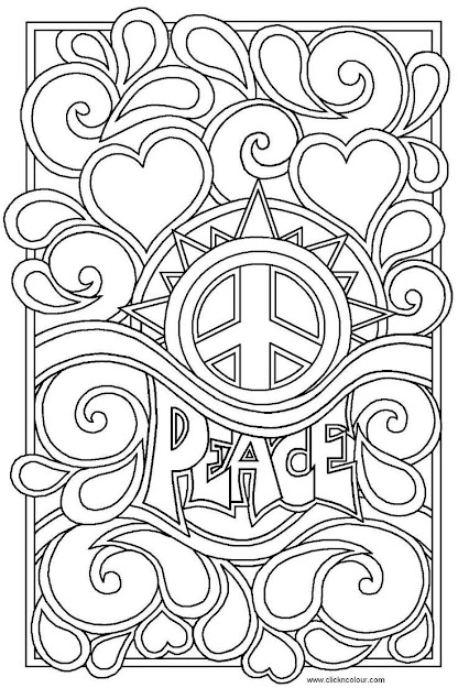 Item Hippie Coloring Design The Word Artwork  Color Periods  Free Coloring  Pages