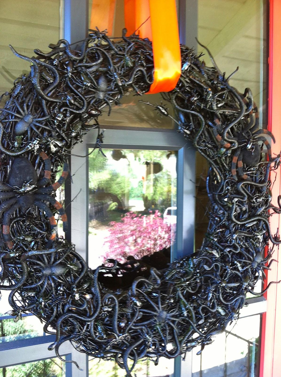 Halloween Chair Covers Dollar Tree Folding Racks The Third Boob Diy Spooky Creepy Bug Wreath