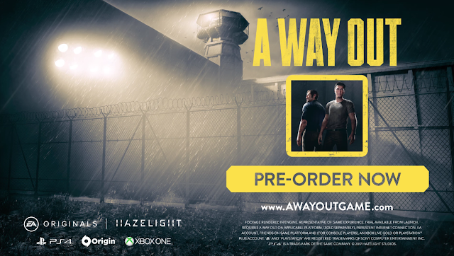 A WAY OUT EA Originals Hazelight pre-order now prison chainlink fence EA Account friend pass