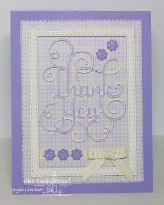 Our Daily Bread Designs Custom Dies:Thank You, Pretty Posies, Double Stitched Rectangles, Our Daily Bread Designs Paper Collection: Pastel Paper Pack 2016