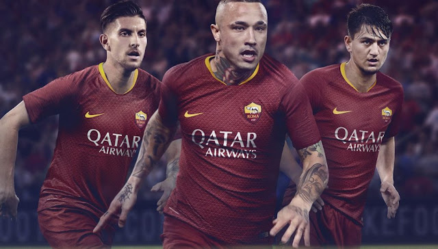 as roma 2018/19 home nike kit