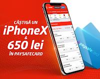 Castiga 1 iPhone X si 650 RON in Paysafecard-uri cu Betano Cazino - concurs - pariuri - premii - castiga.net