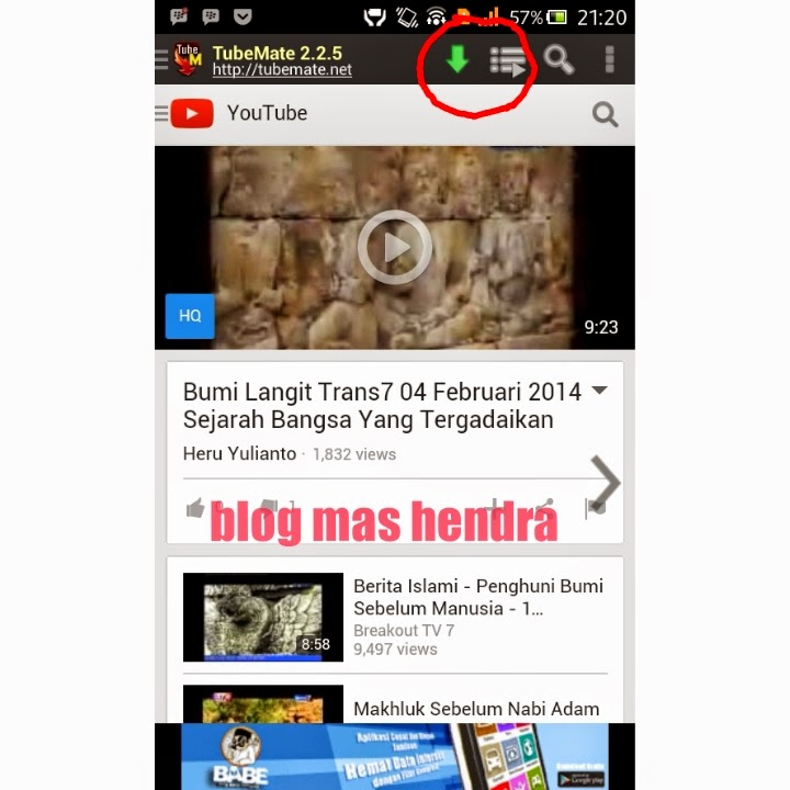 cara, download, video, youtube, handphone, android