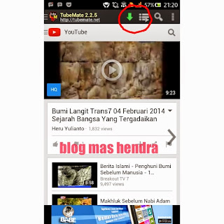 Cara Download Video YouTube di Handphone Android - Blog Mas Hendra