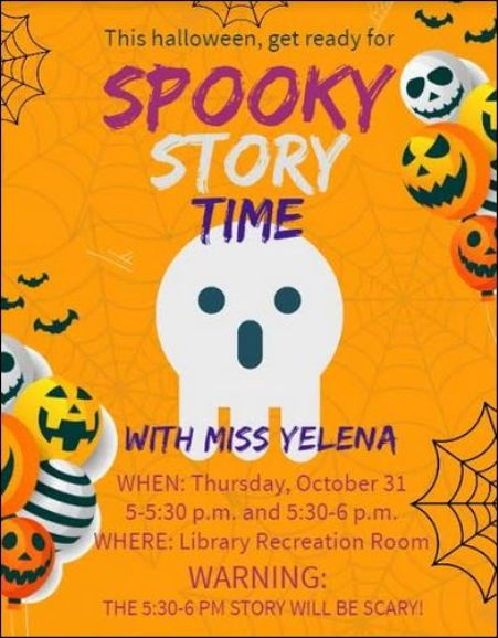 10-31 Spooky Story Time at the Emporium Library