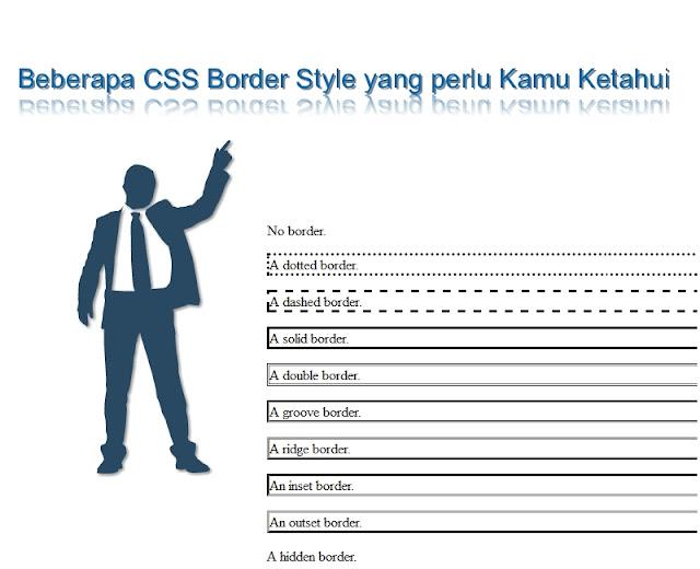 Beberapa CSS Border yang perlu kamu ketahui