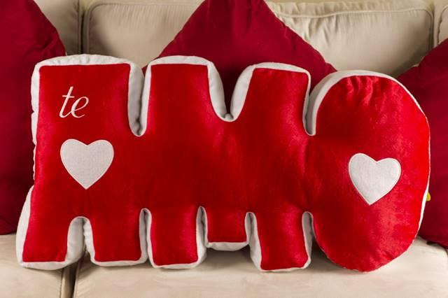 almofada romântica