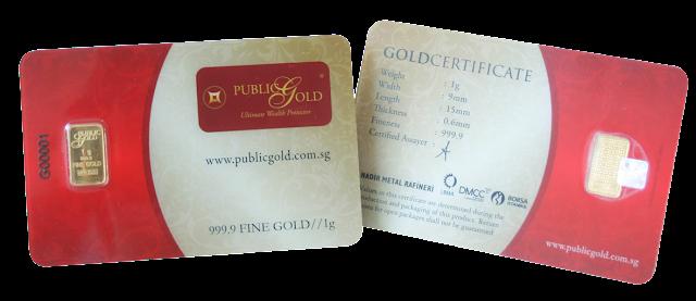 Gold Bar 1gram