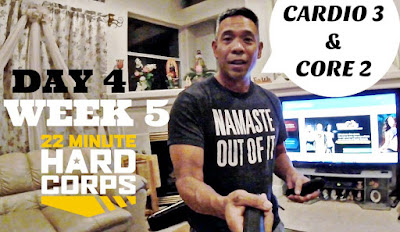 Day 4 Week Five 22 Minute Hard Corps Challenge, 22 Minute Hard Corps Cardio 3 and Core 2, Late Night Workouts, Spartan Training, Shakeology Results, Shakeology Samples, Free Fitness Assessment
