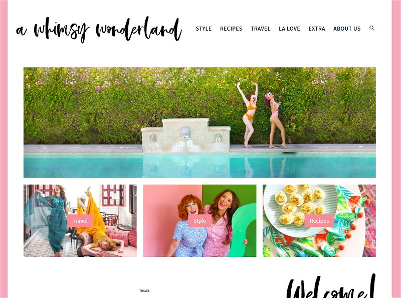 A Whimsy Wonderland | Super cute blog design inspiring me right now!