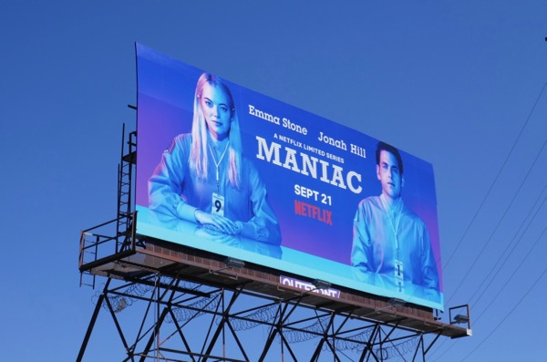 Maniac TV series billboard