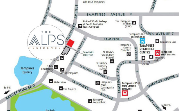 The Alps Residences Location