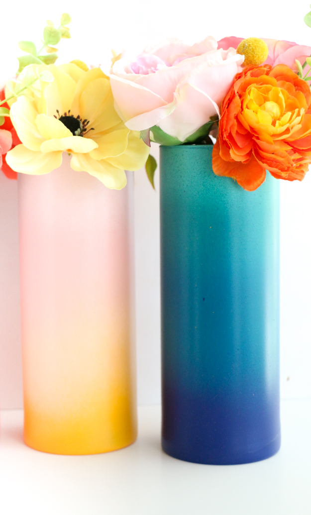 Diy Gradient Flower Vases A Kailo Chic Life