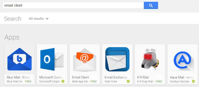 Aplikasi Email Client di Google Play Store