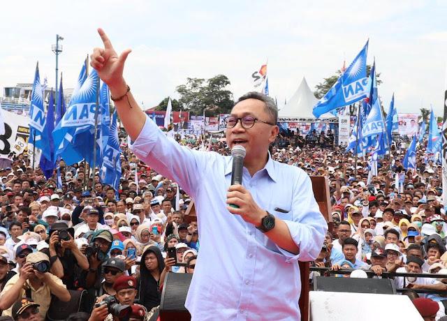 Dalam Orasi di Kampanye Terbuka Prabowo, Ketum PAN Zulkifli Hasan Singgung soal Tidak Pegang Janji